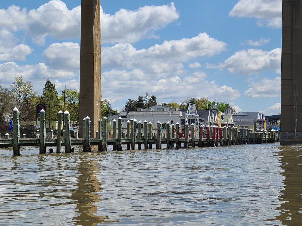 View of Schaefer's Marina approaching the Fuel Dock on the North Side of the C&D Canal