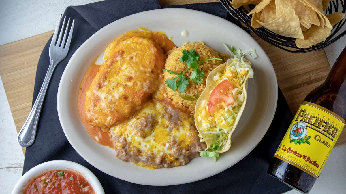 L-2. Chile Relleno and Ground Beef Taco