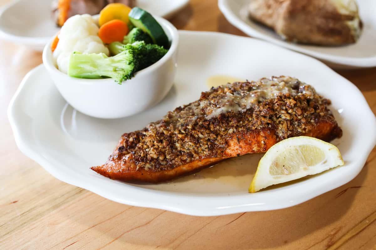 Pecan Crusted Salmon Fillet
