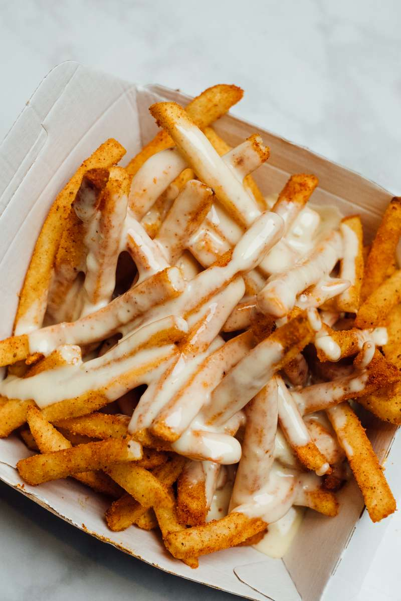 Chicken Salt QUESO Smothered Fries