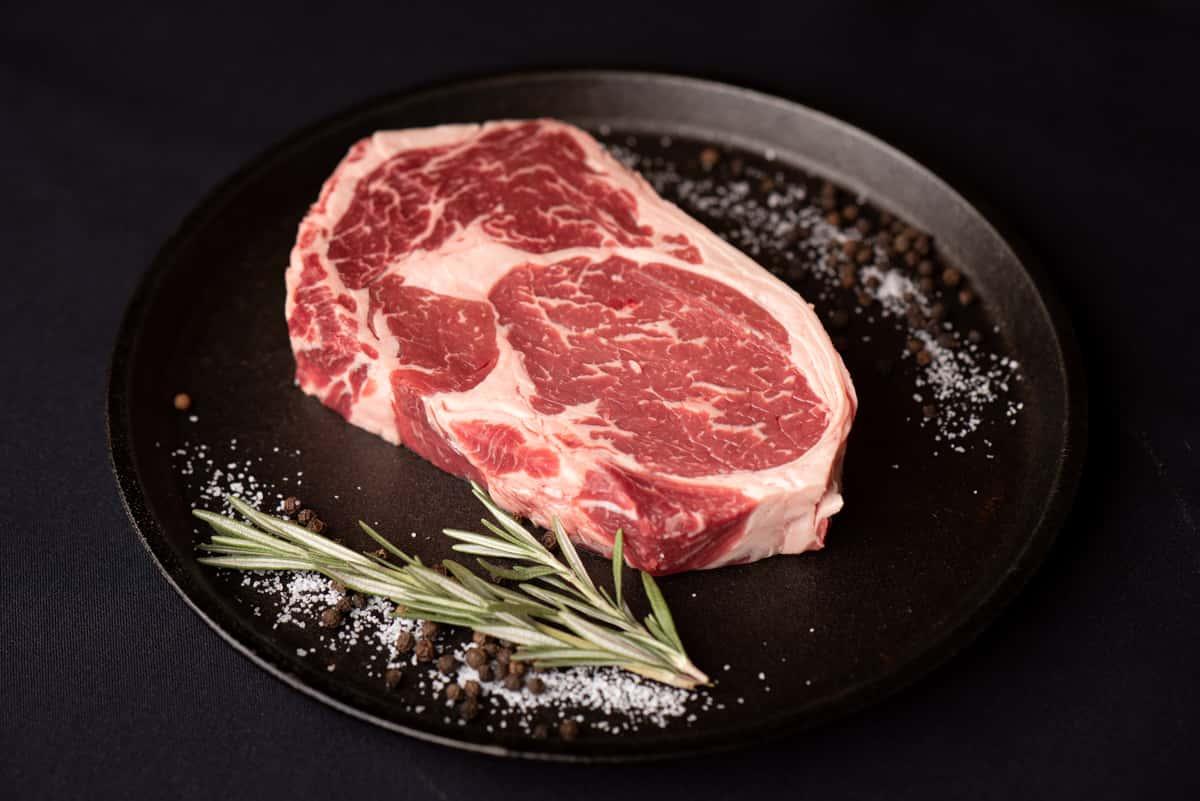 butchered steak