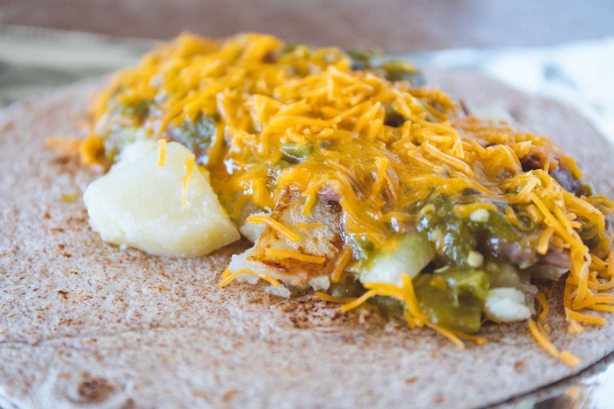 10. Potatoes, Cheese and Green Chile