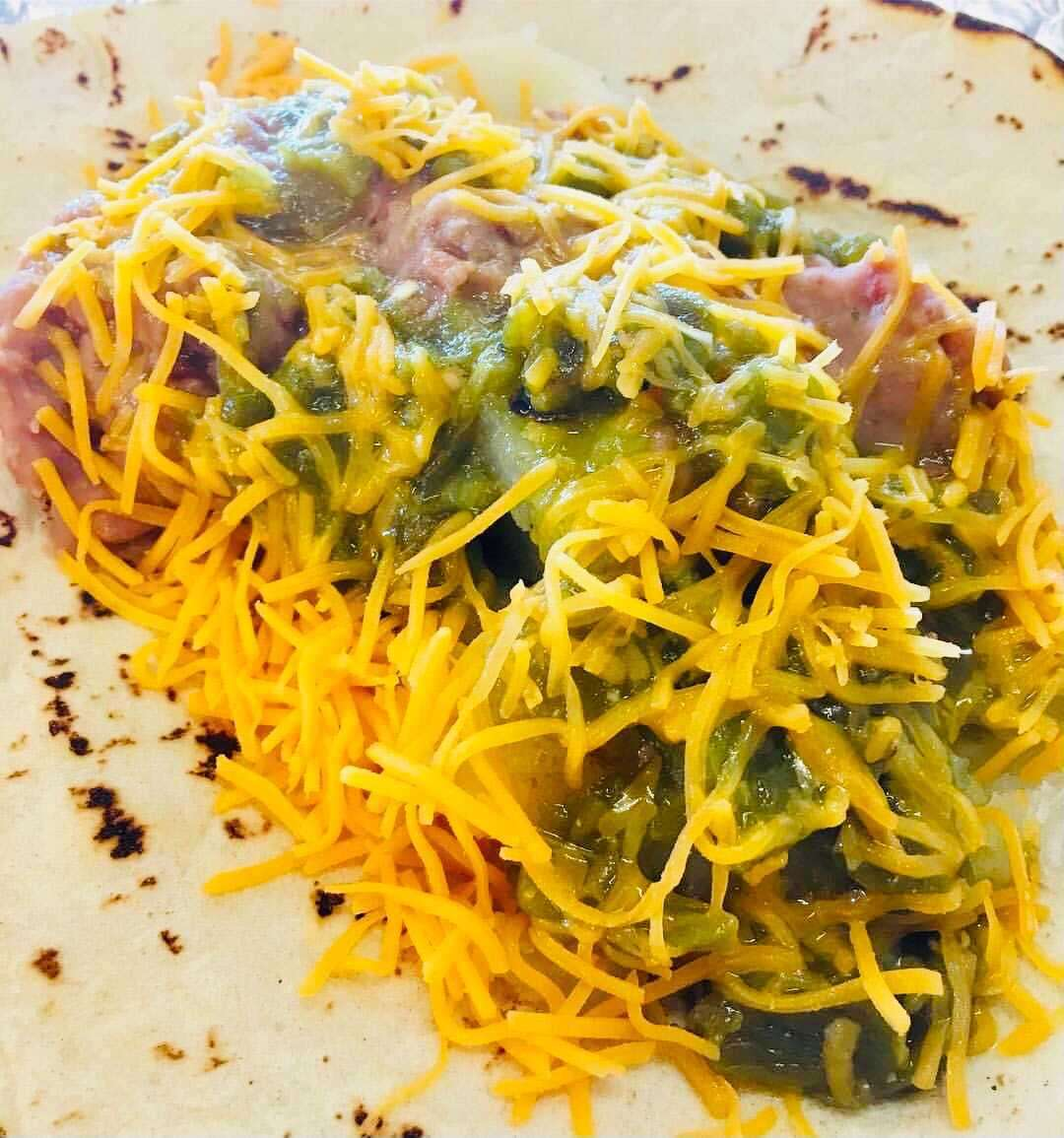 9. Potatoes, Beans, Cheese and Green Chile
