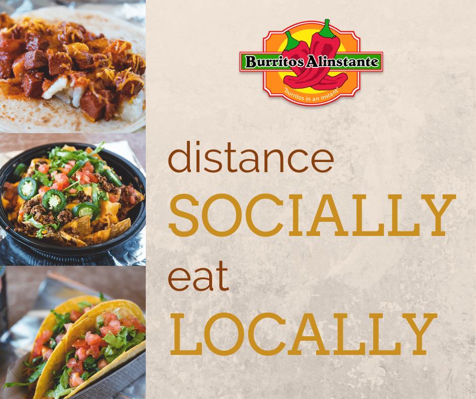distance socially eat locally