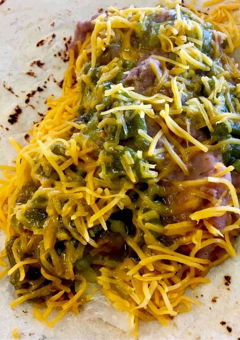 8. Beans, Cheese and Green Chile