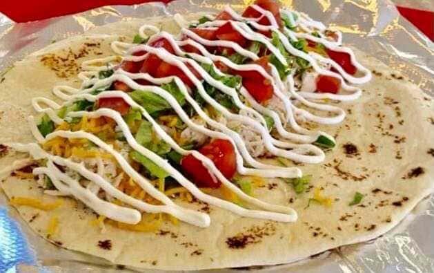 6. Chicken, Lettuce, Tomato, Sour Cream and Cheese