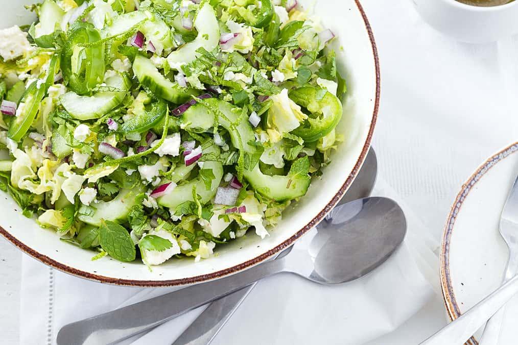 Tossed Spicy Feta Salad