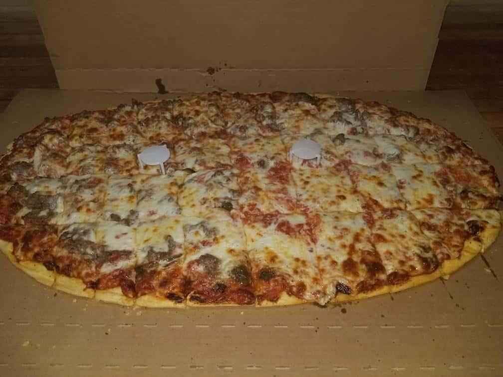 "Football 18""x 26"" Cheese Pizza"