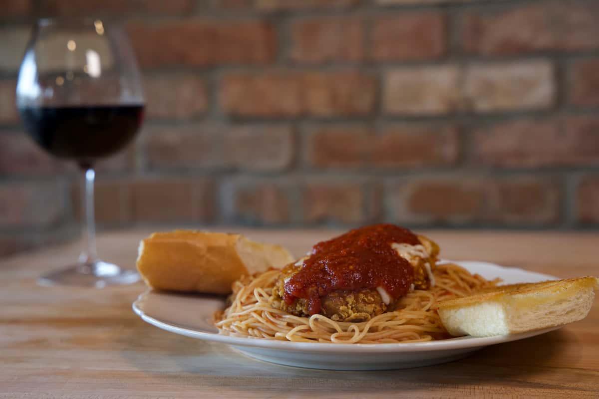 pasta & red wine