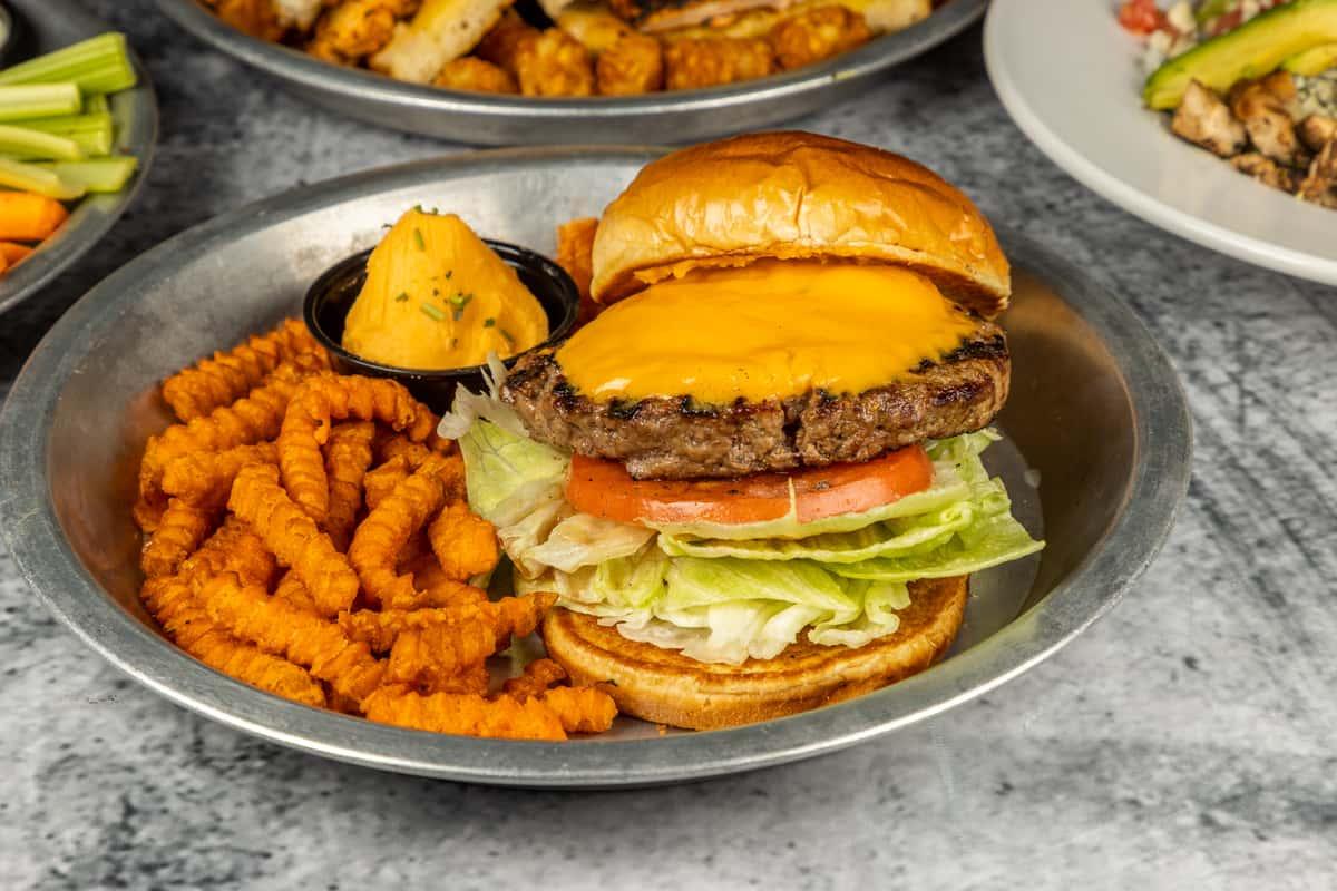 Merkts Char Cheddar Burger