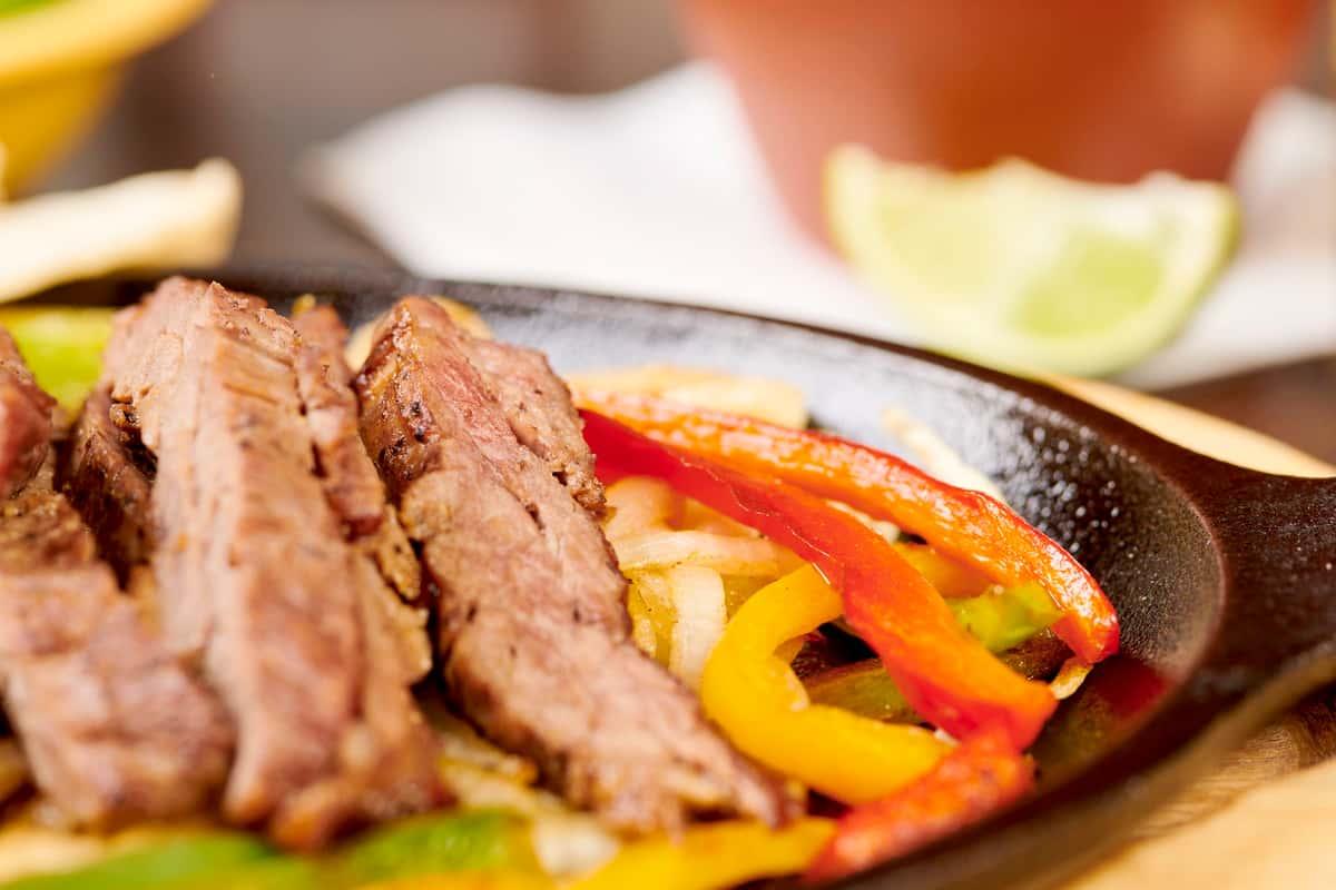 close up steak