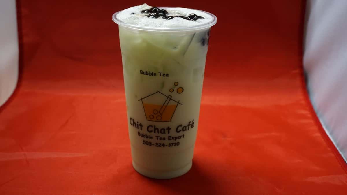 Honeydew Bubble Milk Tea 哈密瓜珍珠奶茶