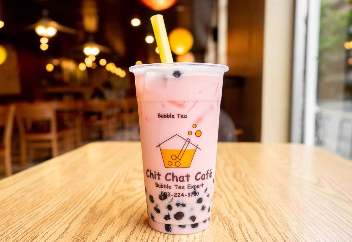 Strawberry Bubble Milk Tea 草莓珍珠奶茶