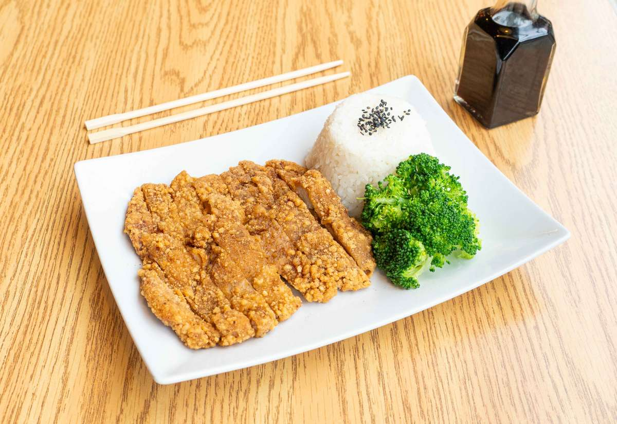Chicken Fried Steak with Rice (香雞排飯)