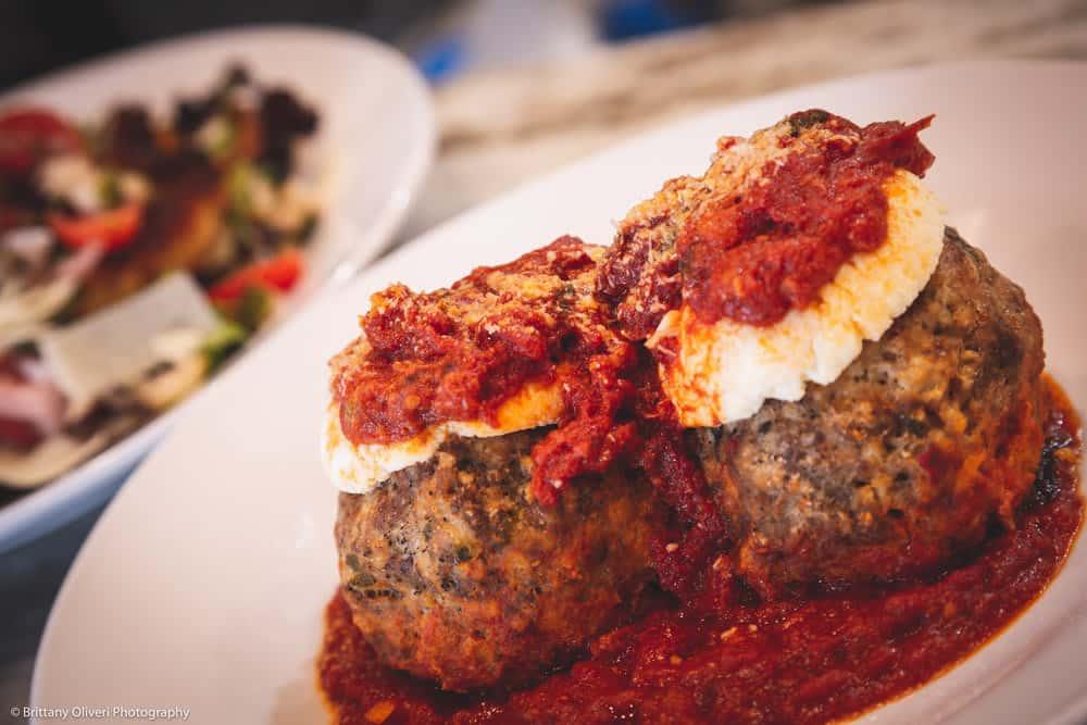 Jumbo Meatballs with Ricotta