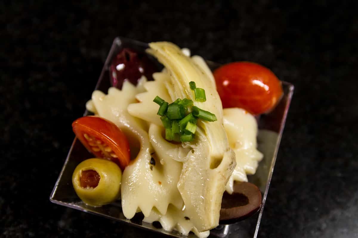Farfalle Pasta, Artichokes, Olives, Heirloom Tomato
