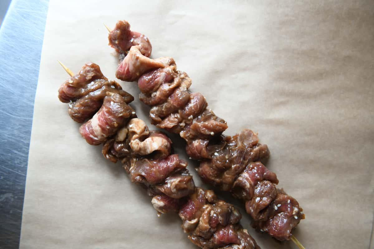 Mongolian Beef Kabobs