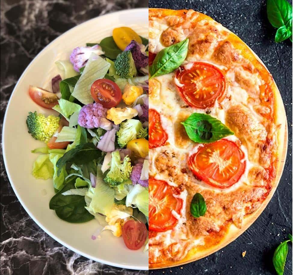 ½ Pizza 'N Salad