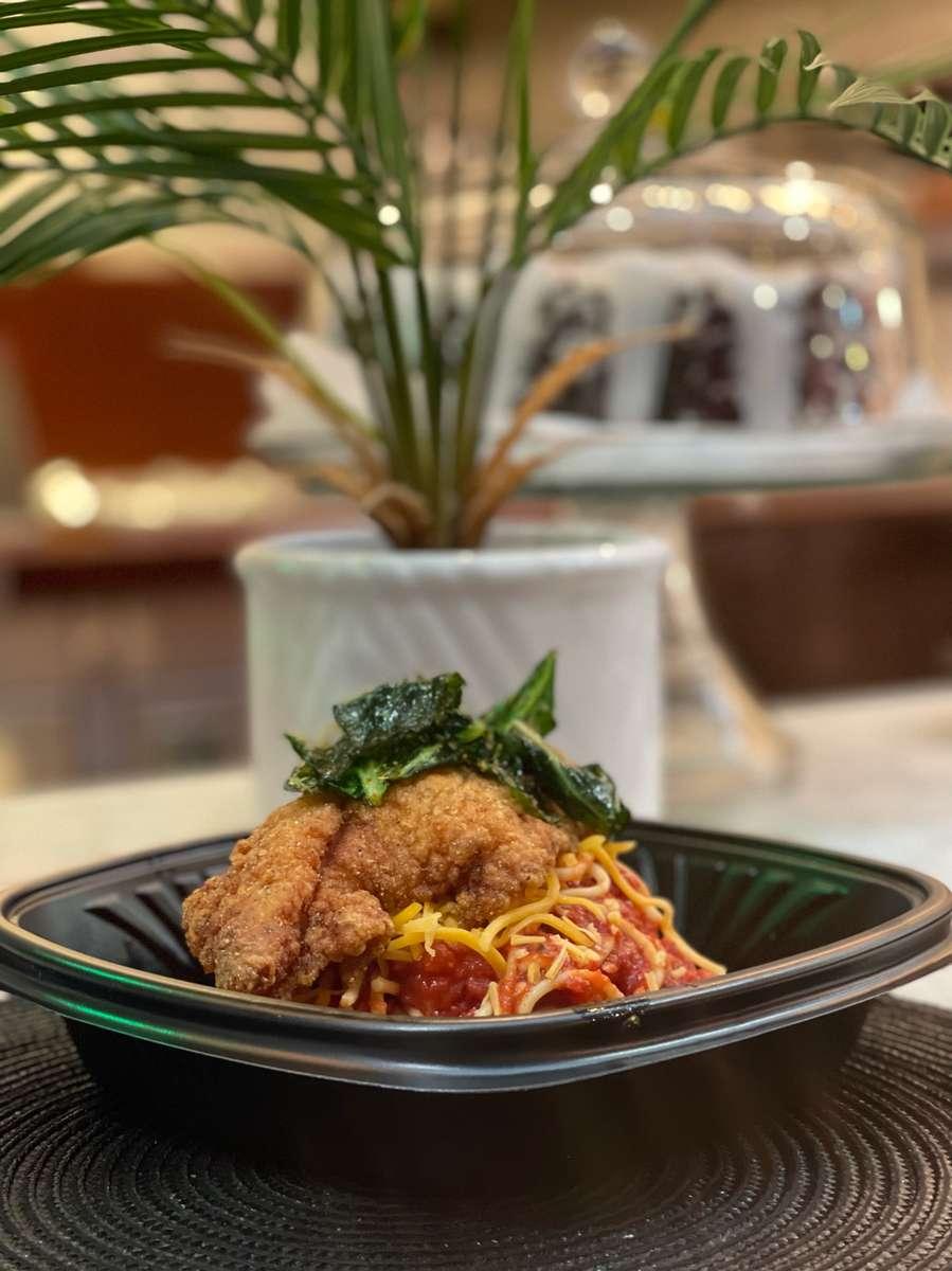 Mom's Catfish & Spaghetti