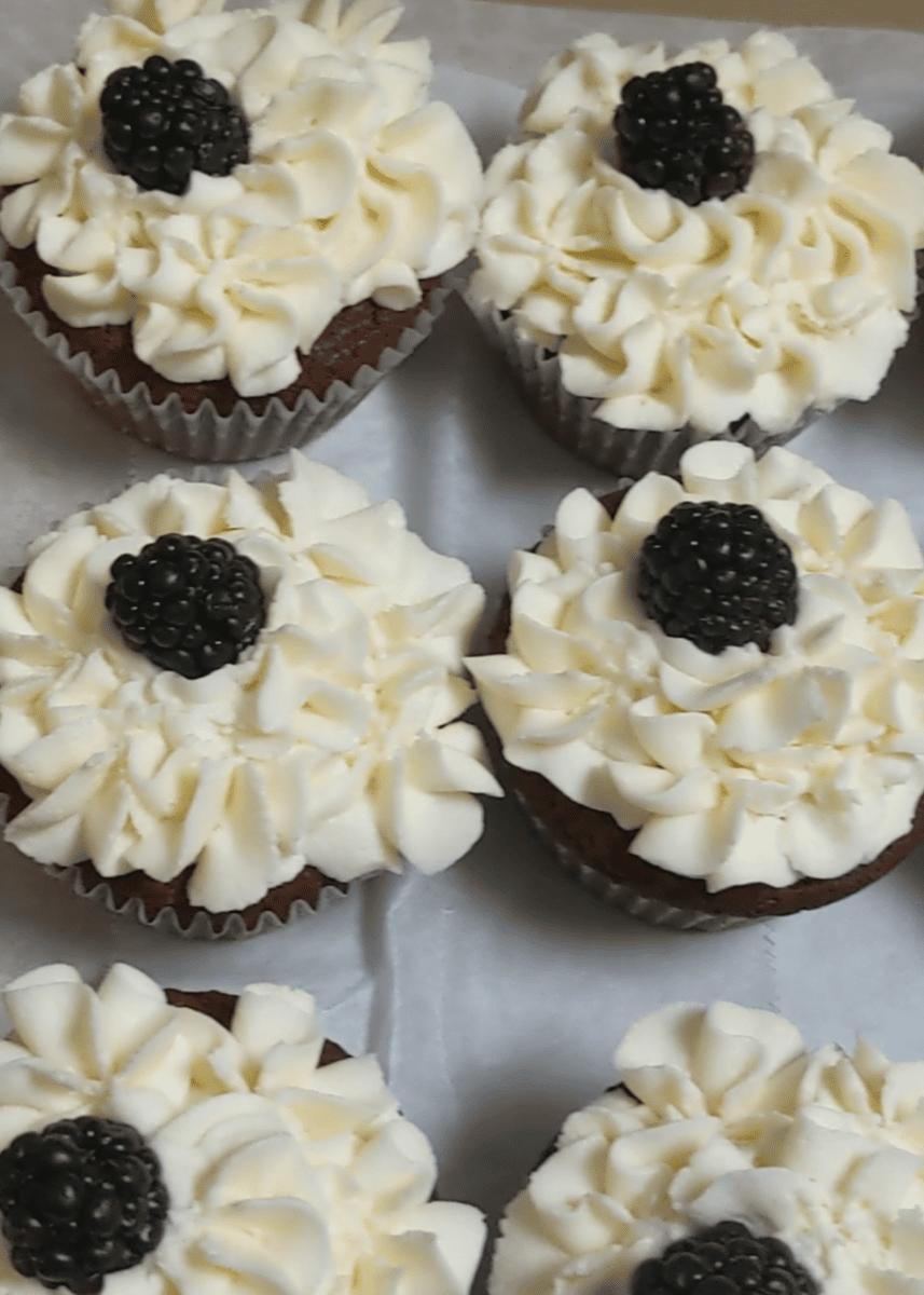 Chocolate Blackberry Cupcake