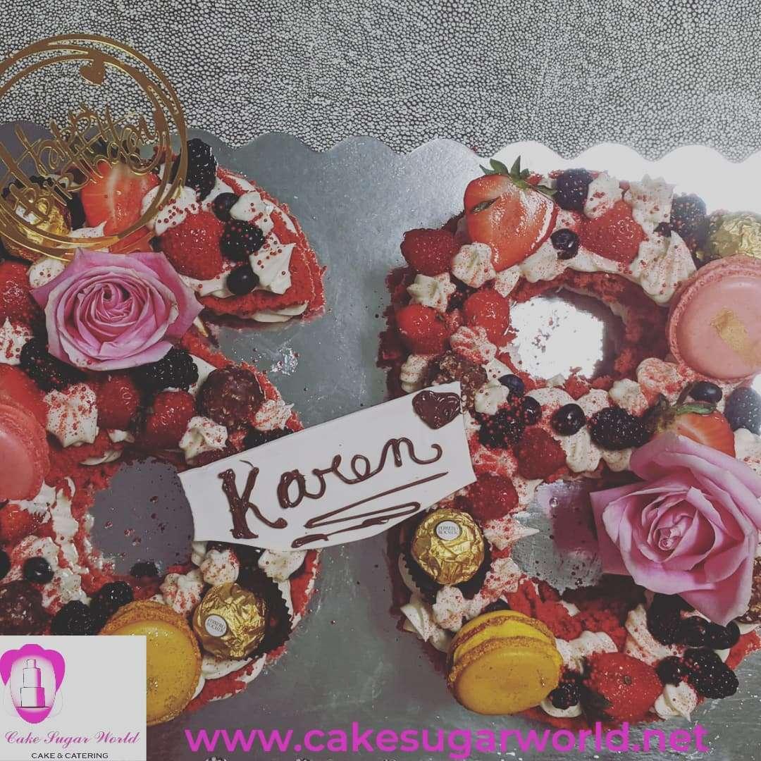 Number Cake Tart Red Velvet