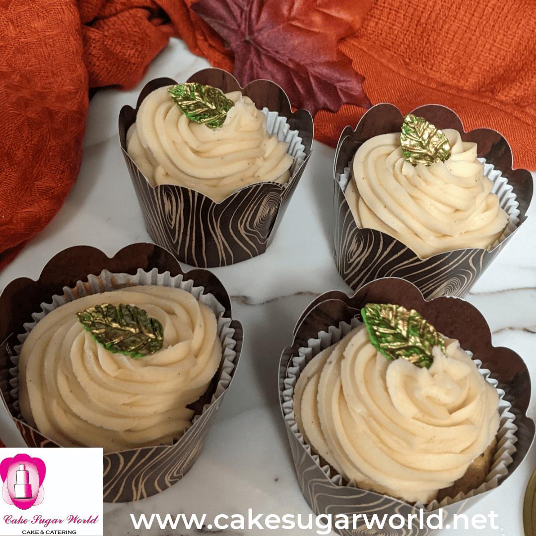Sweet Potatoe & Spiced pumpkin Cupcakes