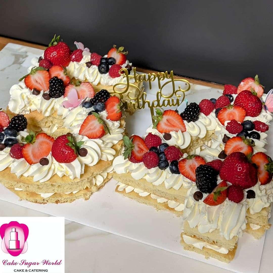 Number Cake Tart Gluten-free
