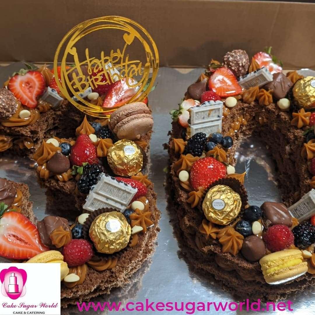 Number Cake Tart Dulce de Leche