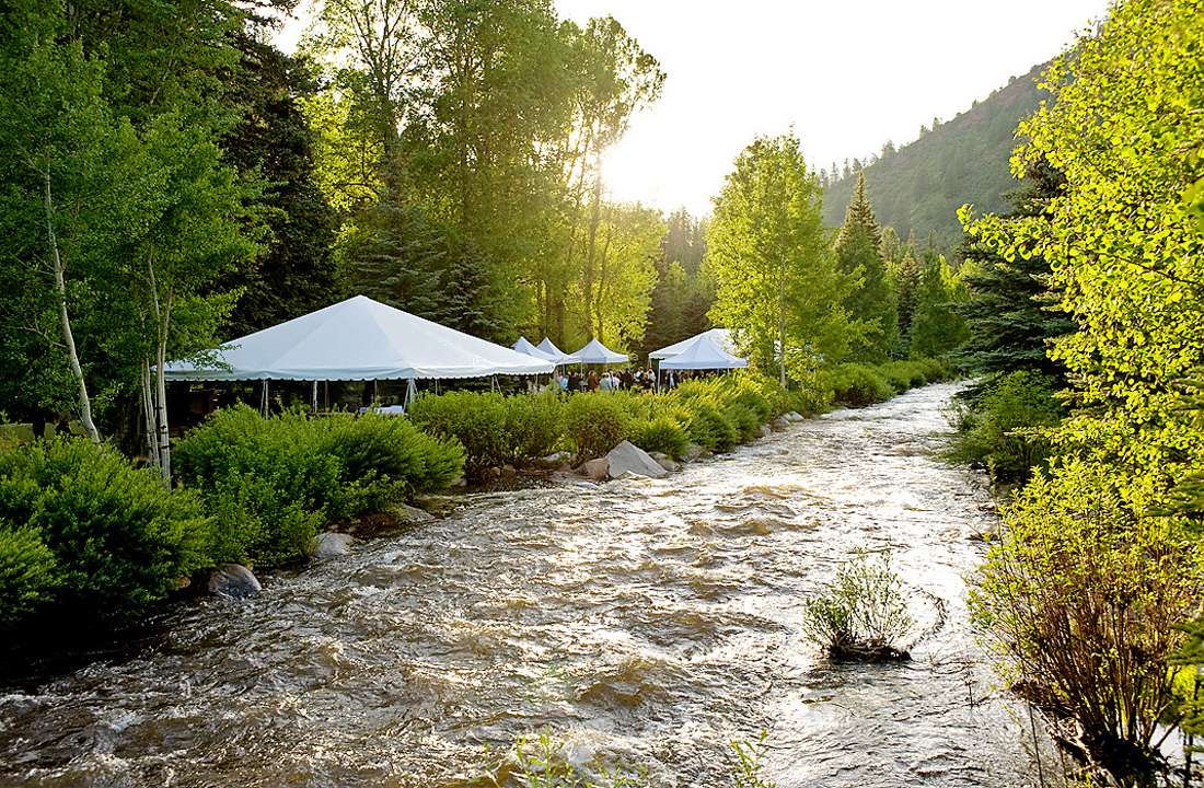 event space with tent
