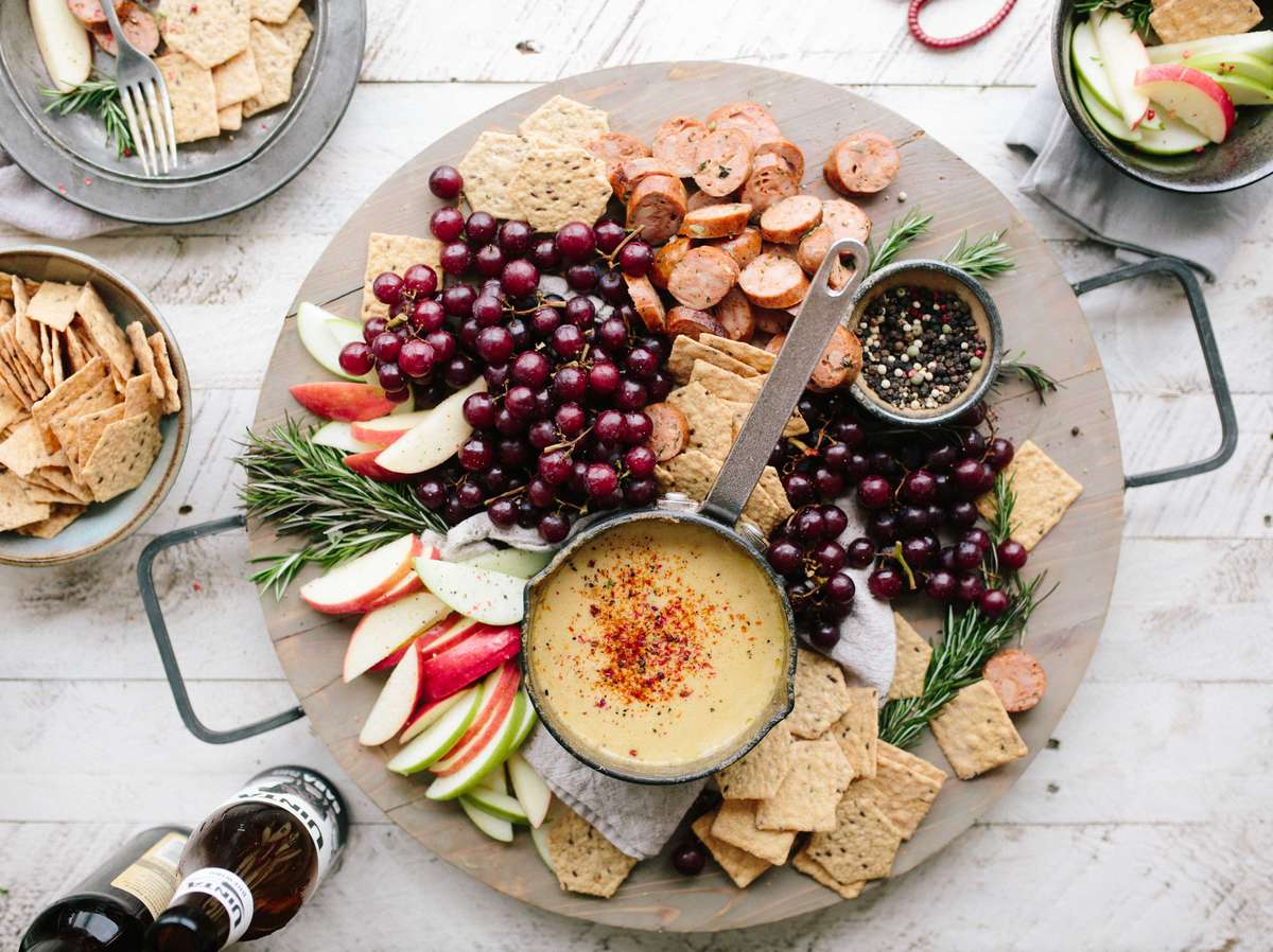 fruit and cracker plate
