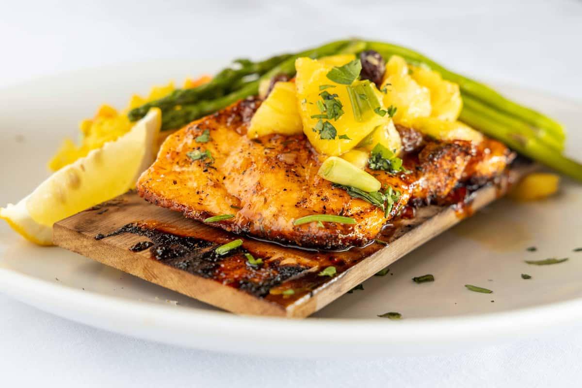 Cedar Plank Citrus Salmon
