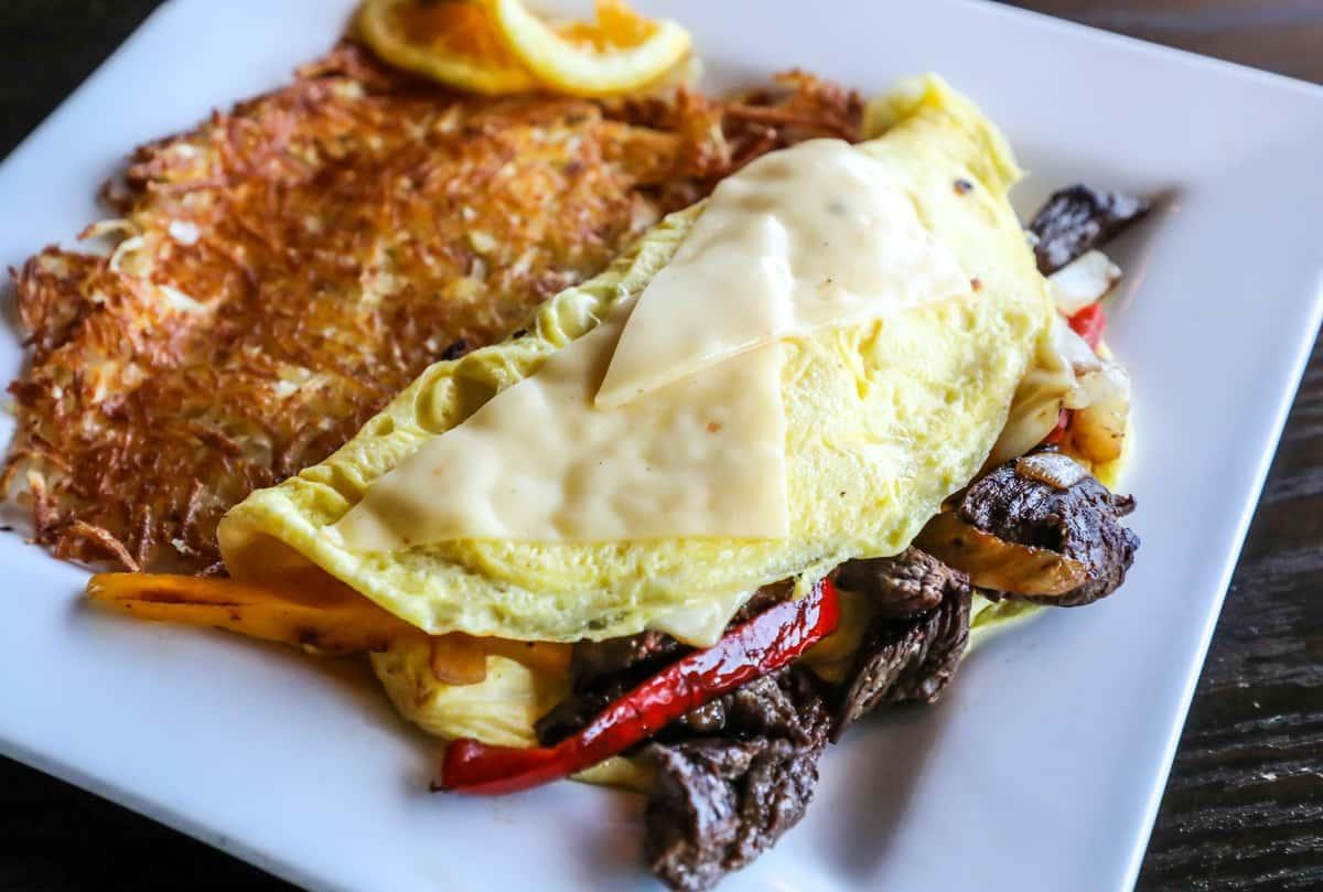 Steak Fajita Omelette