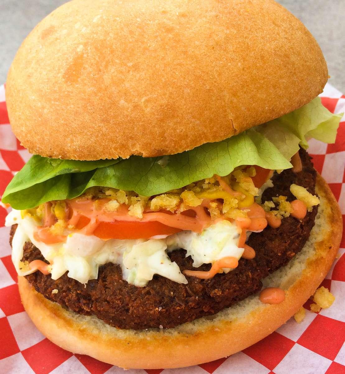 Colombian Style Vegan Burger