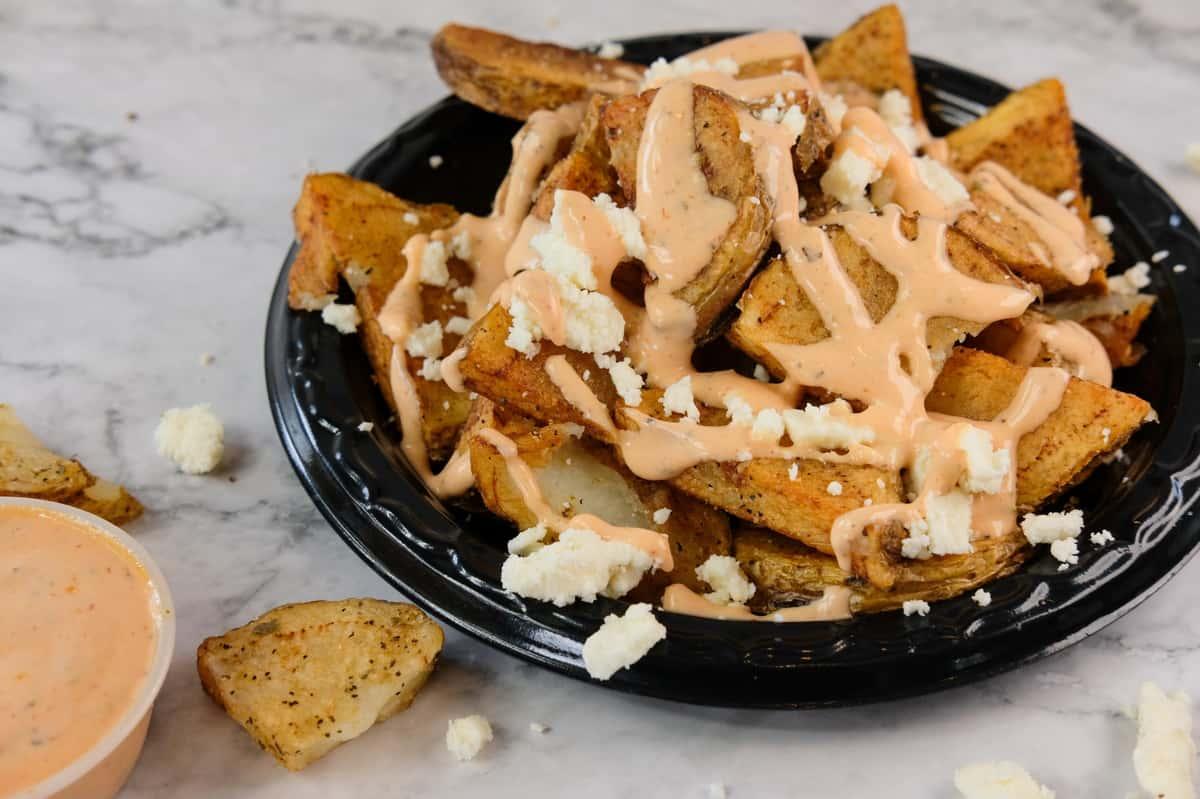 Spicy Feta Potatoes