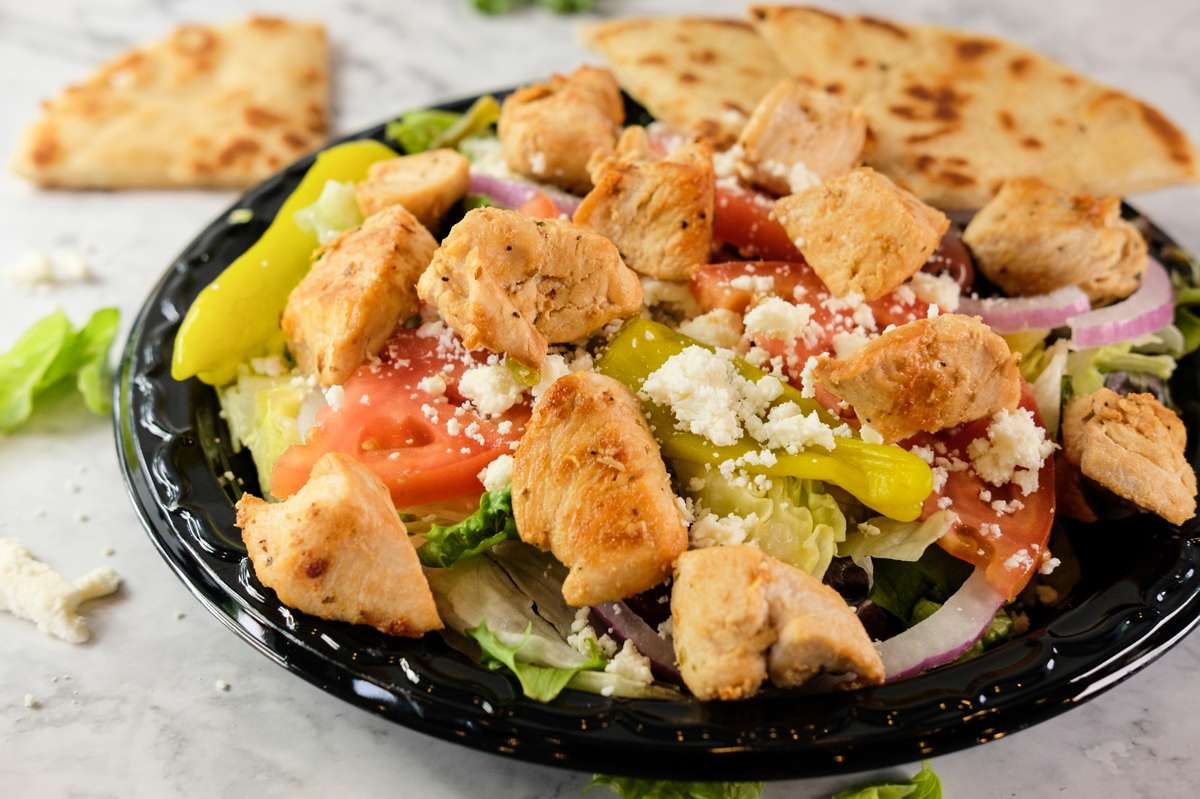 Greek Salad with Protein
