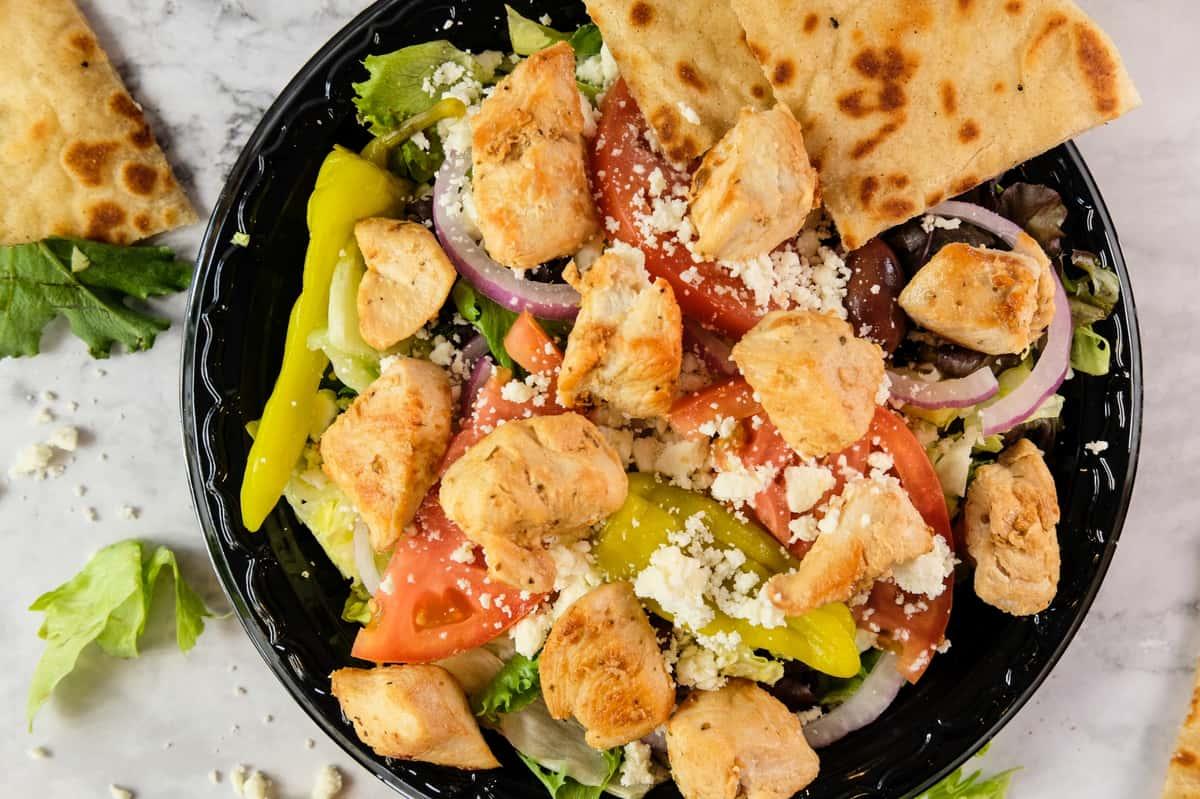 Grecian Salad w/ Meat