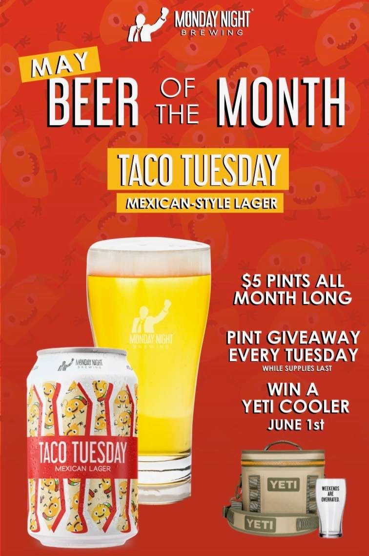 Celebrate our Brewery of the Month 'Monday Night Brewing Co.' with us