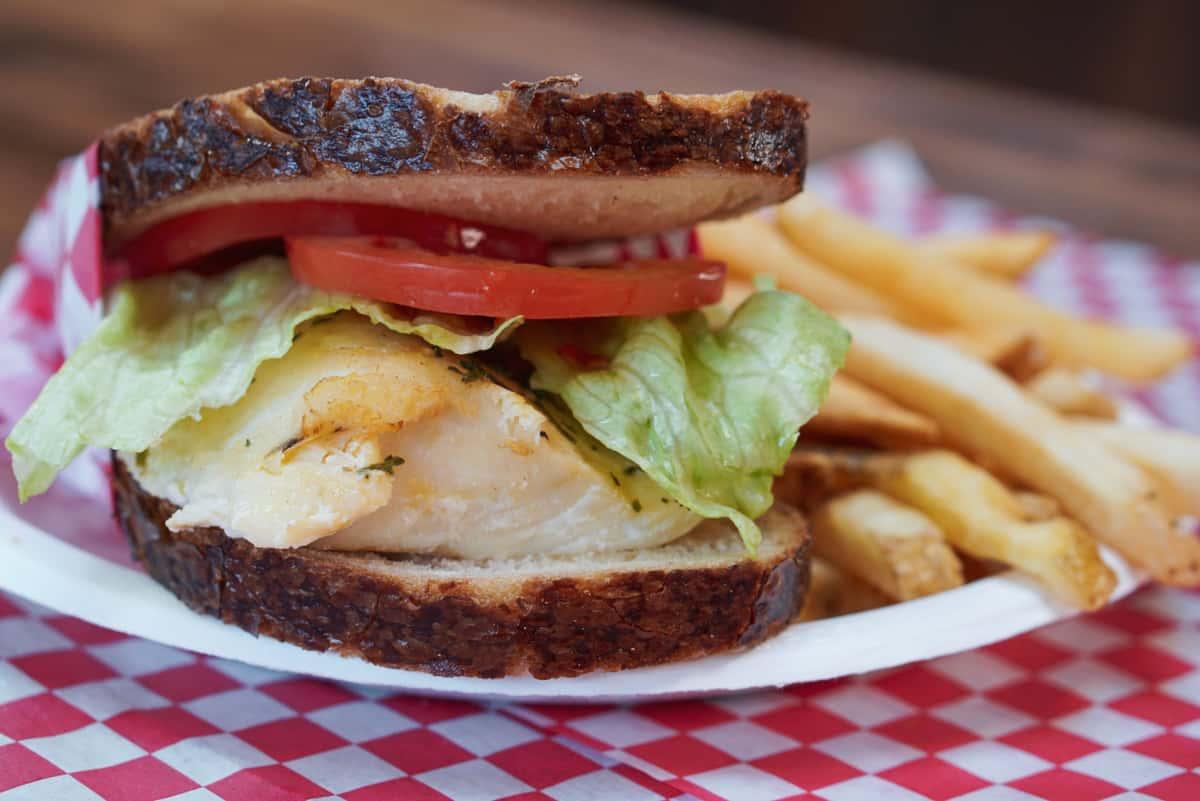 Smoked Cod Sandwich