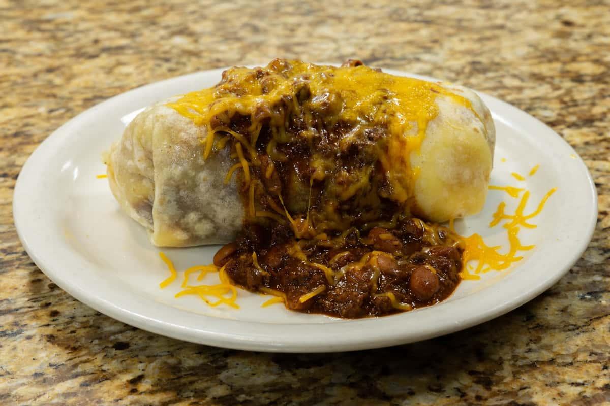 Chili Cheese Scrambler Burrito Style
