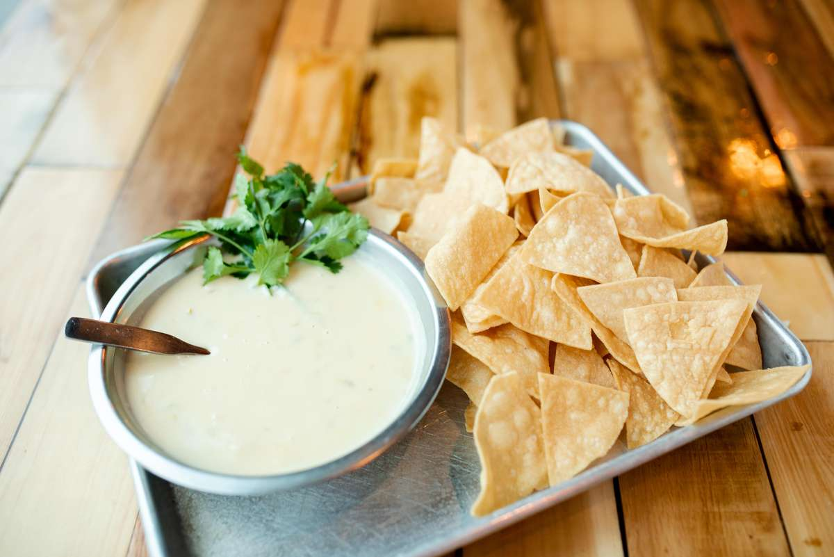 Chips and Green Chile Queso