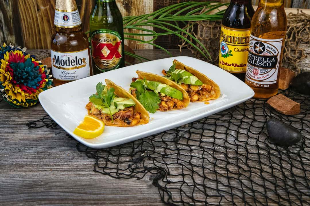 Tacos De Pulpo Zarandeados