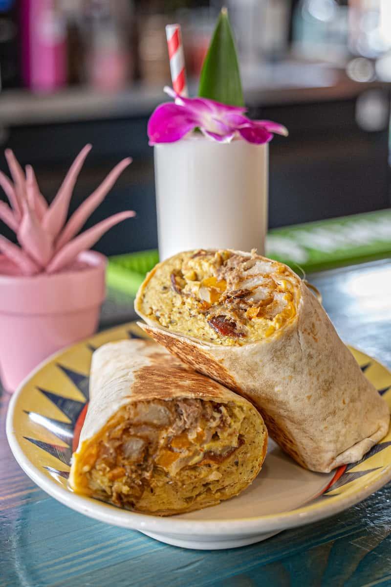 Coconut Club Breakfast Burrito