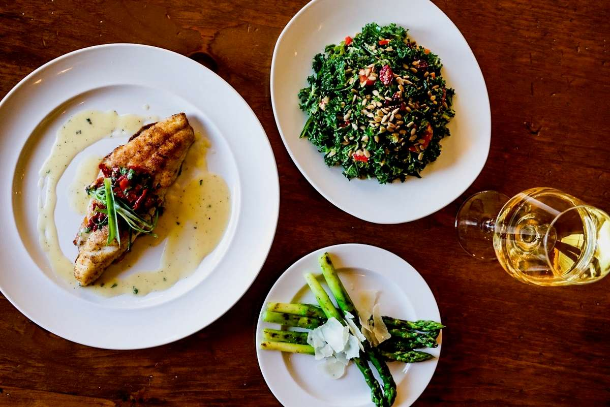 Plates of food