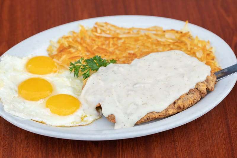 Hand Breaded Chicken Fried Steak & Eggs