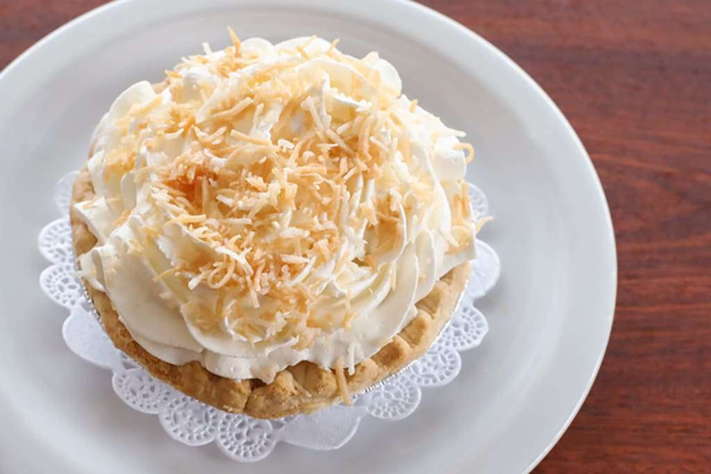 Coconut Cream Personal Pie