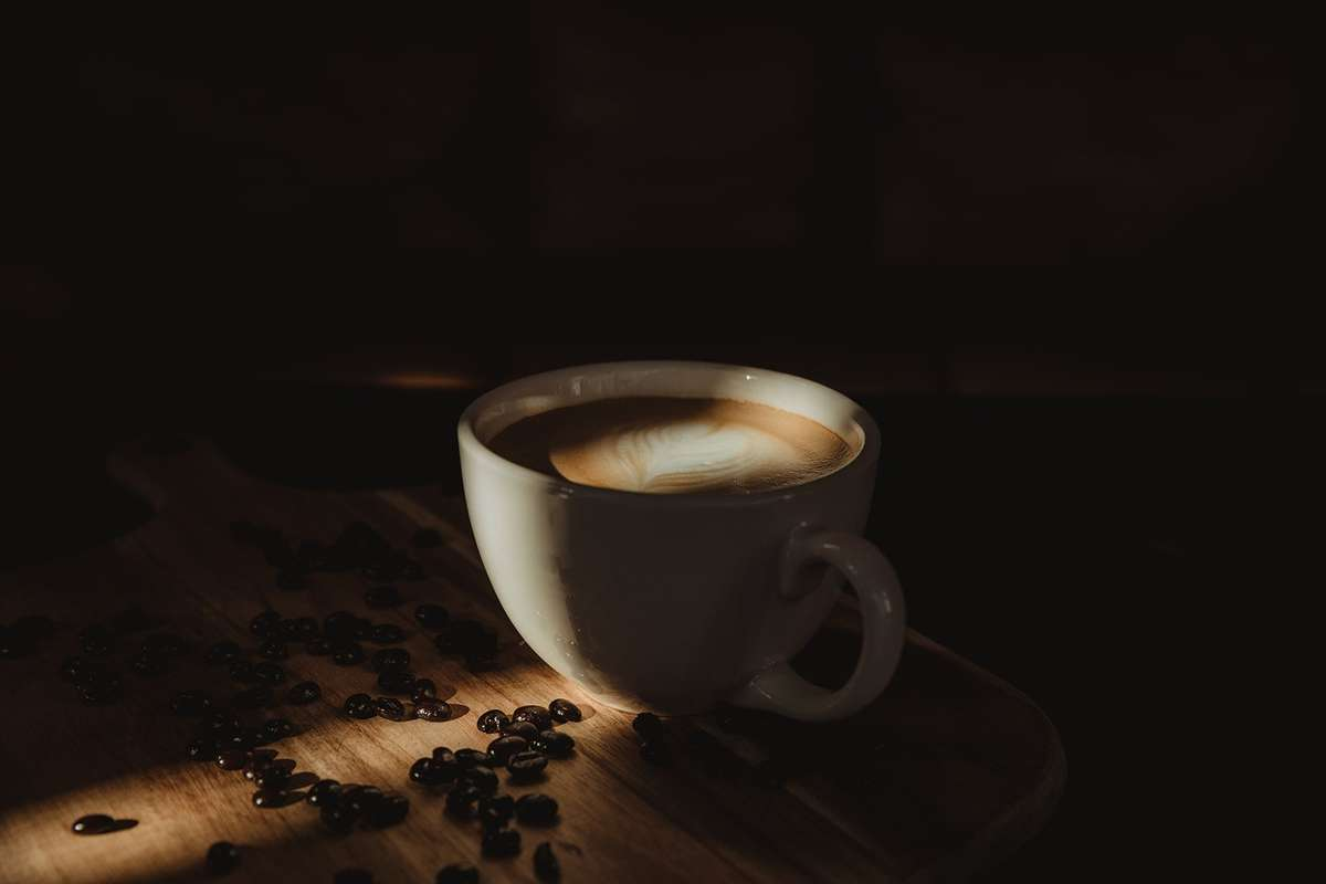 Coffee in shadow