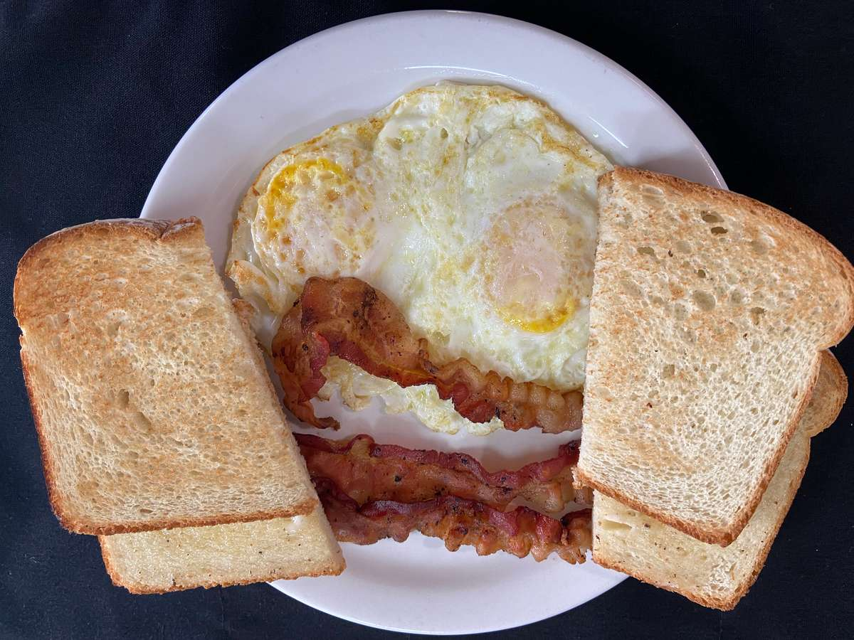 Two Eggs with Meat