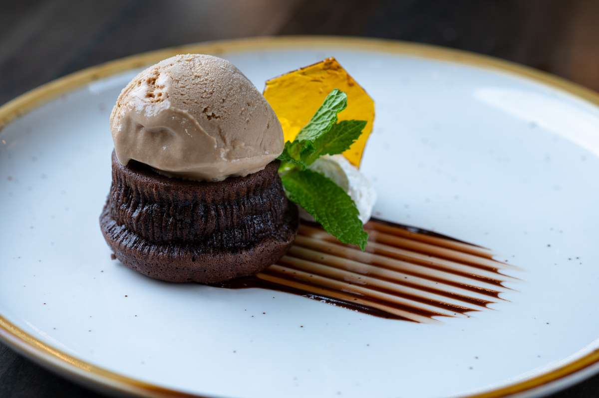 Chocolate Falling Cake
