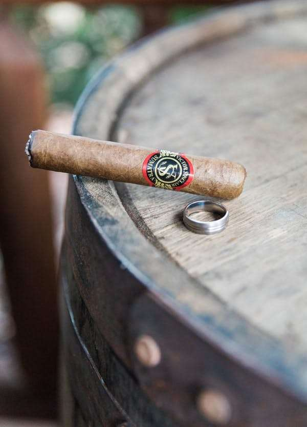 groom ring and cigar