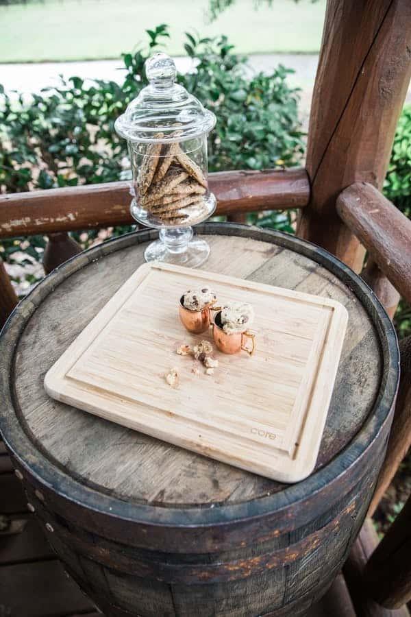 desserts on a barrel
